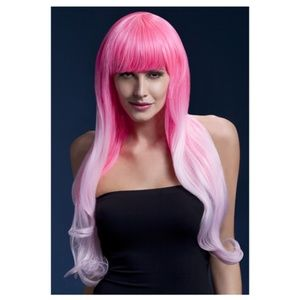 Fever Emily Ombre Pink Wig with Bang